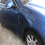 picture of accident damage to sellers vehicle